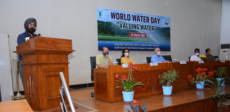 Organized World Water Day at ICAR-CSSRI Karnal on 22nd March 2021