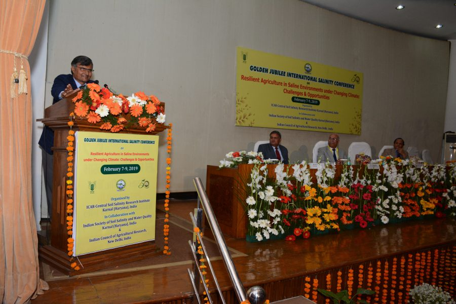 Golden Jubilee International Salinity Conference Concluded at ICAR-CSSRI-Karnal