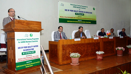 Organised closing function of 14days International Training on `Use of Poor Quality Waters in Agriculture